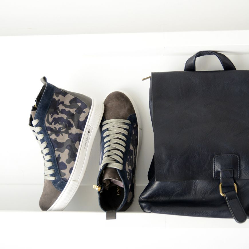 BLUE CAMOUFLAGE SNEAKERS