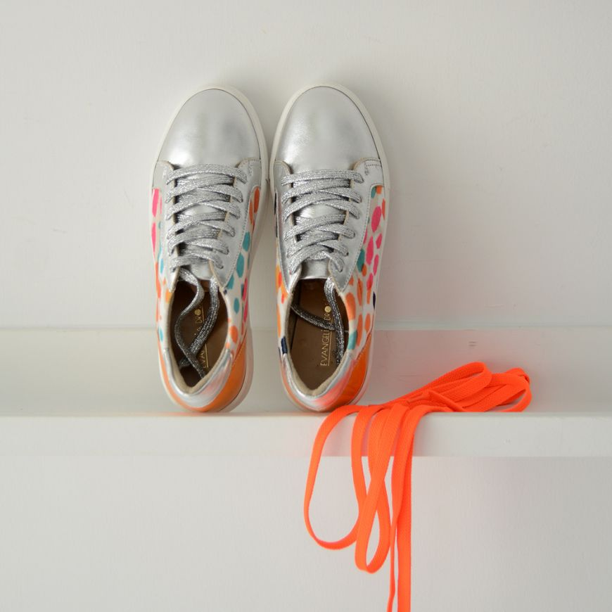 SILVER COLOURFUL SNEAKERS