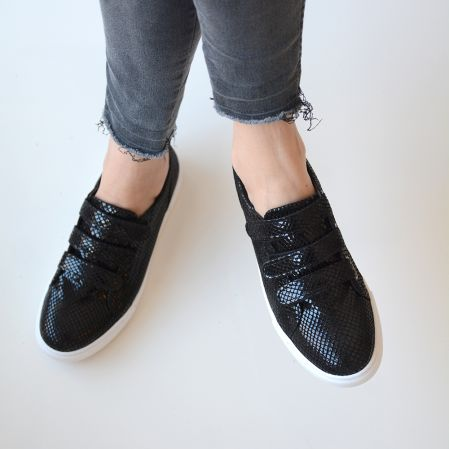 Total Black Snake Sneakers