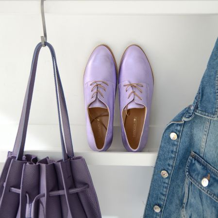 Purple Metallic Oxford