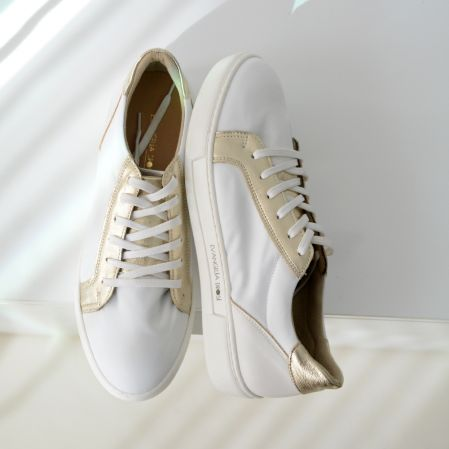 GOLD&WHITE SNEAKERS